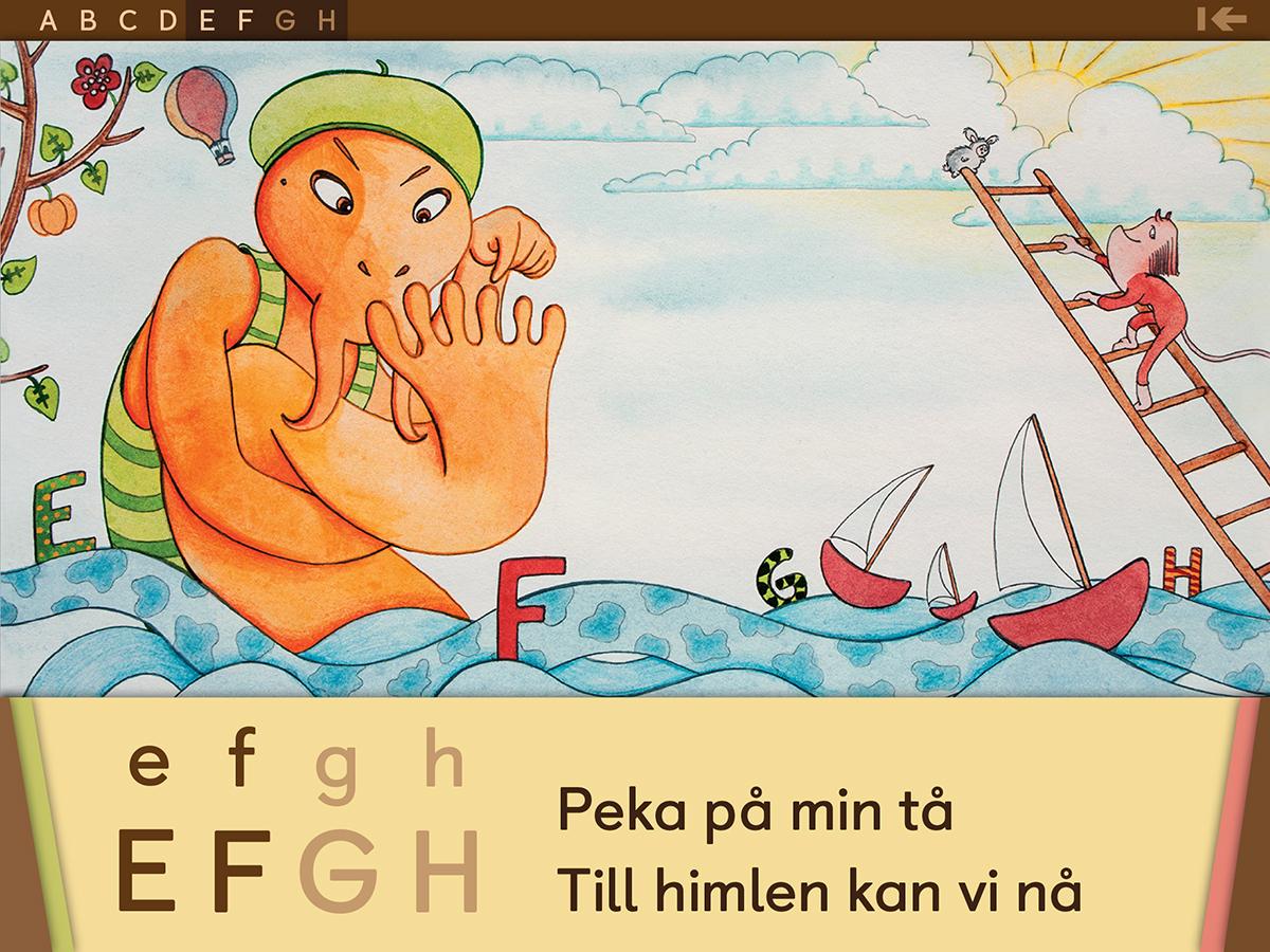 iOS app Modingarna och alfabetet