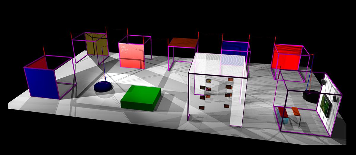 Utställningsformgivning, Visual Voltage. Mu AB och Leo T AB.